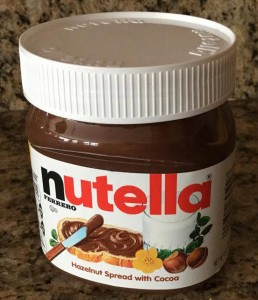 Photo of jar of Nutella