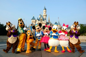 Picture of mascots at Disneyland