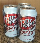 Cans of Diet Dr. Pepper
