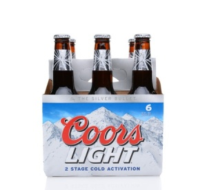 Photo of a six-pack of Coors beer