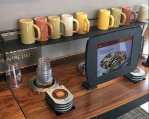 Photo of an ordering kiosk at Panera