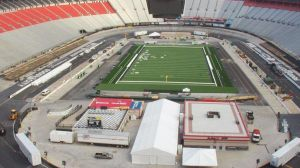Photo of Bristol field under construction