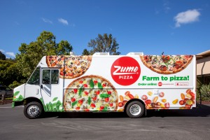 Photo of a Zume pizza delivery truck