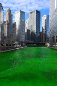 Photo of green Chicago River