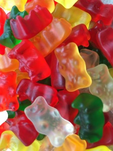 Closeup photo of gummy bears