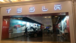 Photo of a Tesla store
