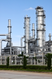 Photo of an oil refinery