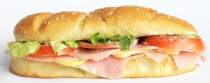 Photo of a submarine sandwich
