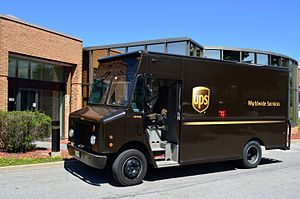 UPS delivery truck