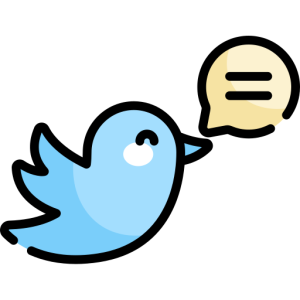 twitter bird with tweet bubble